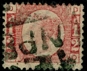 SG48, ½d rose-red PLATE 14, USED. Cat £22. DO