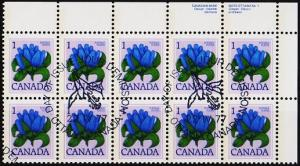 Canada.1977 1c(Block of 10) S.G.856 Fine Used