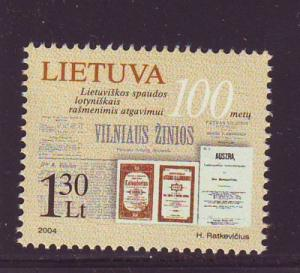 Lithuania Sc 768 2004 Latin Letters stamp  mint NH