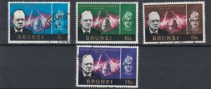 BRUNEI  1966  SG  136 - 139   SET OF 4  USED  10C  IS MH