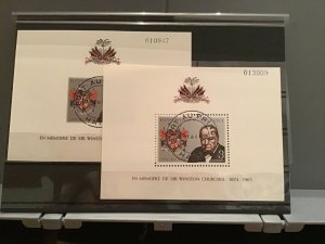 Haiti 1965 Churchill cancelled  stamp sheets R27033