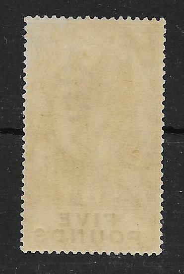GIBRALTAR SG108 1925 5 VIOLET & BLACK MTD MINT