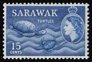 Sarawak #204 Sea Turtles; Unused (2.25)