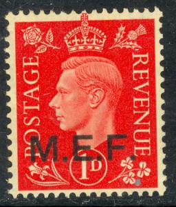 GREAT BRITAIN MIDDLE EAST FORCES 1942-43 KGVI 1d CAIRO EGYPT Printing Sc 1a MH