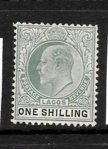 LAGOS  1904-06  1/-  KEVII   MLH  SG 60a