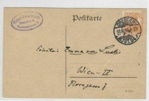 German Postal History Stamps Postcard Ref: R4822