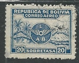 Bolivia || Scott # C9 - Used