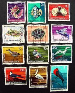 Cocos Islands, Scott 8-19, Used Set
