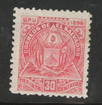 El Salvador Scott 168 MH* 1896  watermarked CV$15