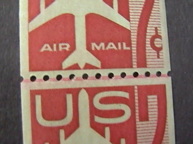 U.S.# C61-MINT/NEVER HINGED---JOINT LINE PAIR----AIR-MAIL--1960