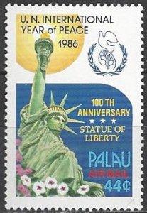 Palau  109-12, C17  MNH  International Year of Peace 1986