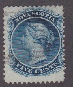 Nova Scotia # 10, Queen Victoria, Used, 1/3 Cat.