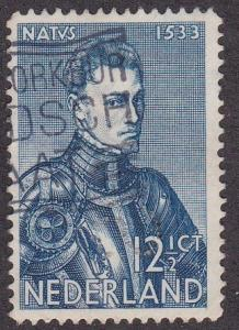 Netherlands # 213, St, Willibard, Used Perfin,