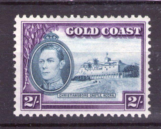 GOLD COAST  GEORGE VI 2/-  12x12 perf. superb lightly hinged condition.