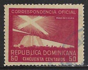 Dominican Republic O25 VFU COLUMBUS 315G-9