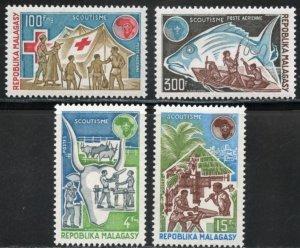 Malagasy Republic Scott 504-05/C122-123 MVFNHOG - Boy Scouts - SCV $5.90