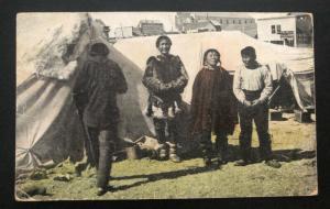1915 USA Real Picture Postcard Cover Eskimo Home Alaska