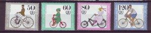J24984 JLstamps 1985 germany berlin set mnh #9nb223-6 bicycles