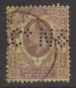 Great Britain Sc#132 Used Perfin ?N Co