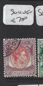 SINGAPORE    (P0906B)  KGVI  40C   SG. 11   VFU