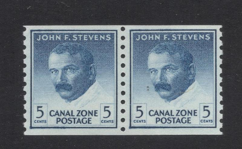 CZ#155 Deep Blue - Pair(Coil Stamps) - Unused - O.G. - N.H.