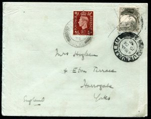"""EXTREMELY RARE PALESTINE """"ONLY 10 KNOWN"""" 1939 COVER TO ENGLAND GB POSTAGE DUE"""