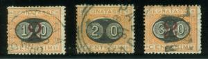 ITALY SCOTT# J25-27 USED AS SHOWN