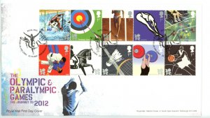 Great Britain 2009 FDC Olympic and Paralympic ames  Sc# 2702-11 se tenant strips