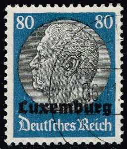 Luxembourg #N15 Hindenburg - German Occupation; Used (5Stars)