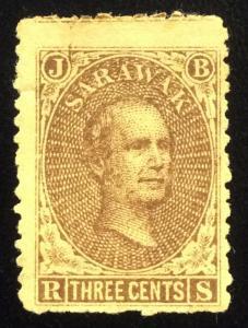 Malaya Sarawak 1869 Sir James Brooke 3c MH SG#1 CV£55 M2012