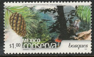 MEXICO CONSERVA 2254, $1P FORESTS. MINT, NH. VF.