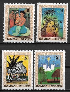 1980 Samoa 539-42 Chrismas/Paintains by Local Artists C/S MNH