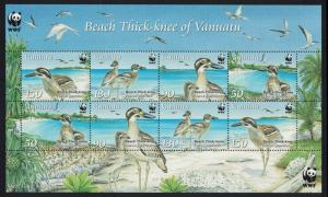 Vanuatu Birds WWF Beach Thick-knee MS SG#MS1063 MI#1401-1404 SC#979