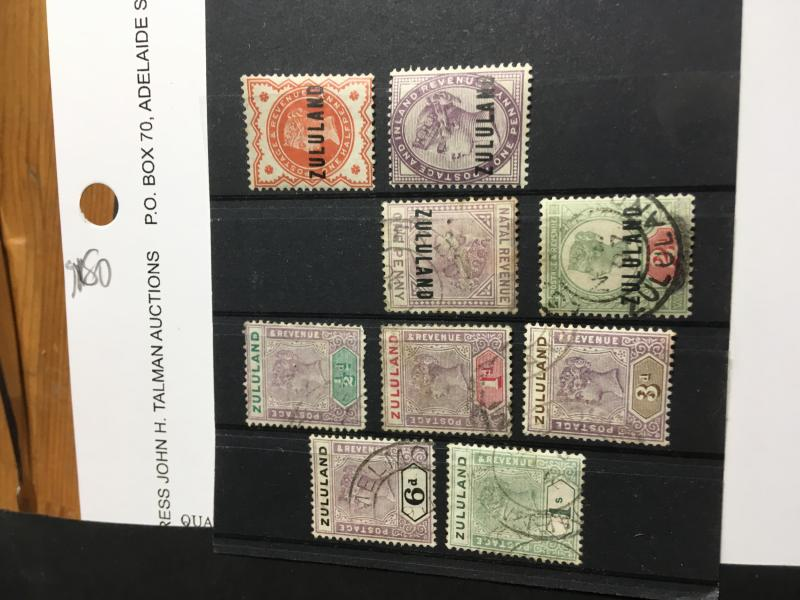 Zululand SC. 1//20 mint/used 2015 Cat. $172. Nine Diff. Inc. 2 Mint,Used3,19&20