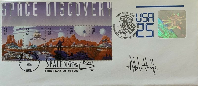 Hideaki Nakano U617 Space Envelope 3238-42 Space Discovery Double 1st Day Cover