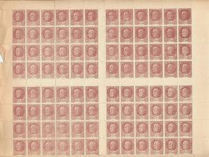FRANCE, FULL SHEET PETAIN POSTAL FORGERY 1944, UNUSED