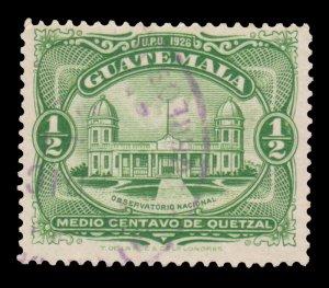 GUATEMALA STAMP 1929 SCOTT # 233. USED. # 1