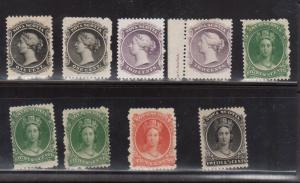 Nova Scotia #8 - #13 (Missing #10) Mint On White And/Or Yellowish Paper