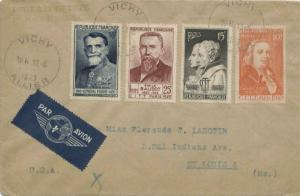 France 10F, 15F, 25F and 50F Int'l. Telephone and Telegraph Conference 1949 V...