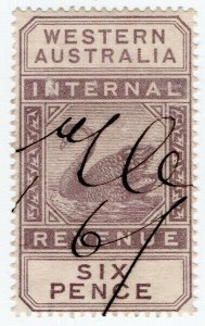 (I.B) Australia - Western Australia Revenue : Internal Revenue 6d (1899)