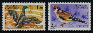 Andorra Fr 340-1 MNH Birds, Ducks