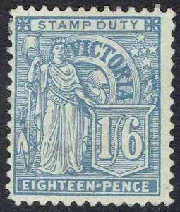 VICTORIA 1886 FIGURE 1/6 BLUE