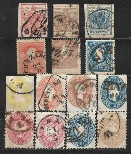 COLLECTION LOT OF 14 AUSTRIA 1850+ STAMPS CLEARANCE CV+$42