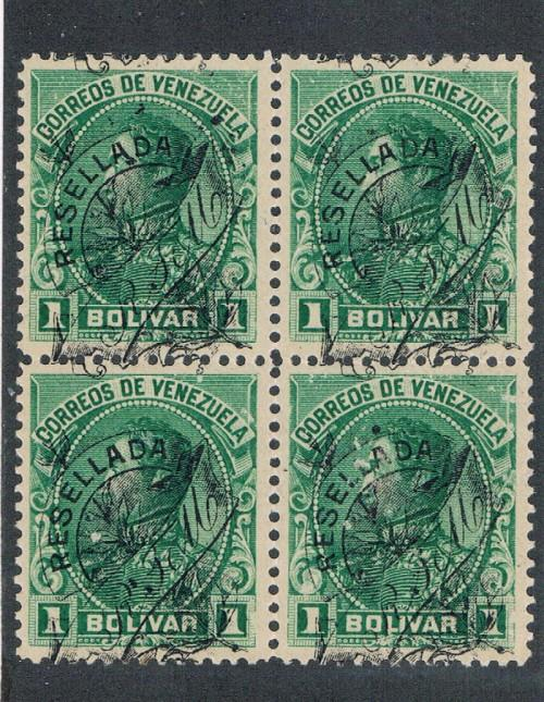 Venezuela 154 Blk of 4 MNH Disturbed Gum  (V0288)