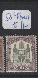 BRITISH CENTRAL AFRICA (PP1203B)   ARMS 1/-  SG 47  MOG