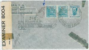 POSTAL HISTORY : BRAZIL - AIRMAIL COVER to USA 1942  - CENSORED