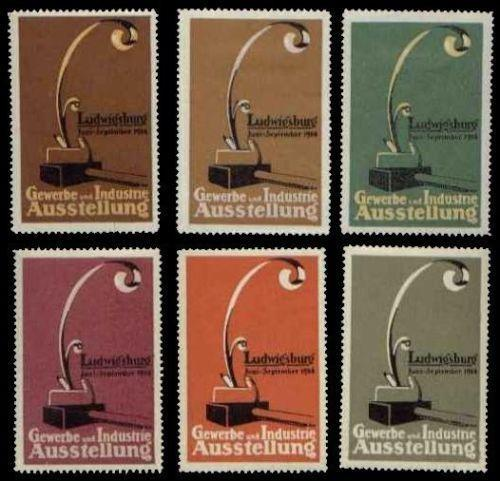 Germany 1914 Ludwigsburg Expo Poster Stamps