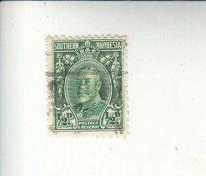1933 SOUTHERN RHODESIA 1/2d SCOTT# 16 S.G.# 15a USED                     CS23323