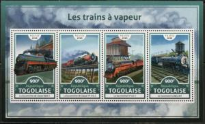 TOGO 2017 STEAM TRAINS SHEET MINT NH