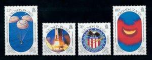 [102270] Solomon Islands 1989 Space travel weltraum Apollo 16  MNH